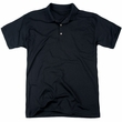 Justice League Movie Polo The Flash Black Back Print Golf Shirt