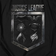 Justice League Movie Shield of Emblems Shirts