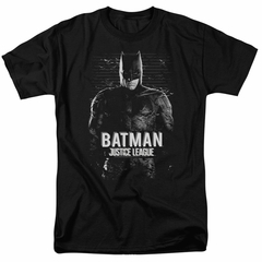 Justice League Movie Shirt Batman Profile Black T-Shirt