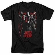Justice League Movie Shirt The League Red Glow Black T-Shirt