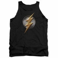 Justice League Movie Tank Top Flash Logo Black Tanktop