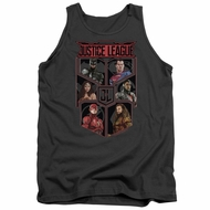 Justice League Movie Tank Top League of Six Charcoal Tanktop
