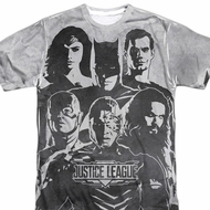 Justice League Movie The League Black and White Shirts