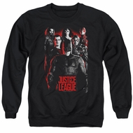 Justice League Movie The League Red Glow Adult Black Sweatshirt