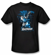 Justice League Shirt Batman Blue and Gray Superheroes Black T-Shirt