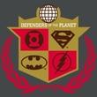 Justice League Superheroes T-shirt - Defenders Adult Charcoal Tee