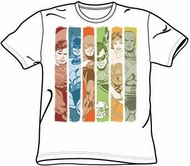 Justice League T-shirt - Columns DC Comics Adult White Tee