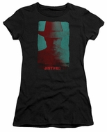 Justified Juniors Shirt Raylan Givens Silhouette Black T-Shirt