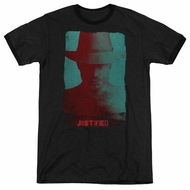 Justified Raylan Givens Silhouette Black Ringer Shirt