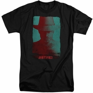Justified Shirt Raylan Givens Silhouette Black Tall T-Shirt