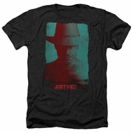 Justified Shirt Raylan Givens Silhouette Heather Black T-Shirt
