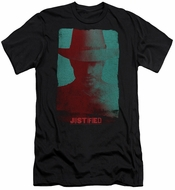 Justified Slim Fit Shirt Raylan Givens Silhouette Black T-Shirt
