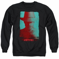 Justified Sweatshirt Raylan Givens Silhouette Adult Black Sweat Shirt