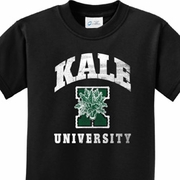 Kale University Darks Kids Yoga Shirts
