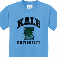 Kale University Lights Kids Yoga Shirts