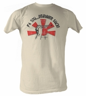 Karate Kid T-Shirt � Beginners Luck Out Adult Dirty White Tee Shirt