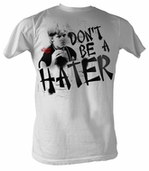 Karate Kid T-Shirt Movie Dont Be A Hater Adult White Tee Shirt