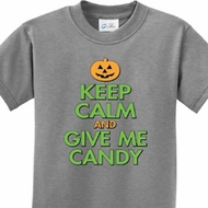 Keep Calm and Give Me Candy Kids Halloween Shirts