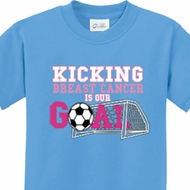 Kicking Breast Cancer is Our Goal Kids Breast Cancer Awareness Shirts