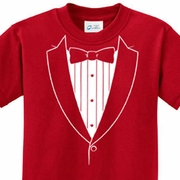 Kids Basic White Tuxedo Shirts