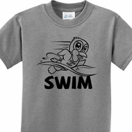 Kids Black Penguin Power Swim Youth T-shirt