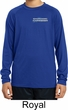 Kids Blue Dodge Charger Pocket Print Dry Wicking Long Sleeve Shirt