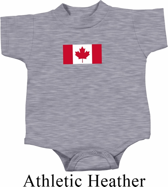 Kids Canada Romper Canadian Flag Small Print Baby Creeper Canadian