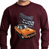 Kids Dodge 1970 Plymouth Hemi Cuda Long Sleeve Shirt