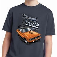 Kids Dodge 1970 Plymouth Hemi Cuda Moisture Wicking Shirt