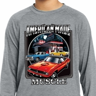 Kids Dodge Chrysler American Made Dry Wicking Long Sleeve Tee T-Shirt