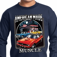 Kids Dodge Shirt Chrysler American Made Long Sleeve Tee T-Shirt