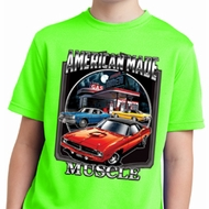 Kids Dodge Shirt Chrysler American Made Moisture Wicking Tee T-Shirt