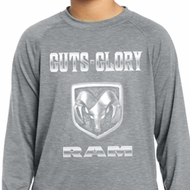 Kids Dodge Shirt Guts and Glory Ram Logo Dry Wicking Long Sleeve Tee