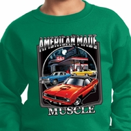 Kids Dodge Sweatshirt Chrysler American Made Sweat Shirt