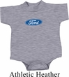 Kids Ford Romper Ford Oval Middle Print Onesie