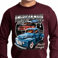 Kids Ford Shirt American Made Long Sleeve Shirt
