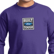 Kids Ford Shirt Built Ford Tough Small Print Long Sleeve Tee T-Shirt