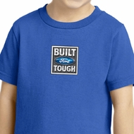 Kids Ford Shirt Built Ford Tough Small Print Toddler Tee T-Shirt