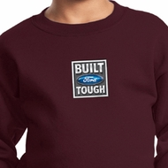 Kids Ford Sweatshirt Built Ford Tough Small Print Sweat Shirt