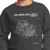 Kids Ford Sweatshirt Engine Parts Youth Sweat Shirt