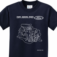 Kids Ford Tee Engine Parts Youth T-shirt
