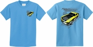 Kids Ford Tee Yellow Mustang Boss (Front & Back) Youth Shirt