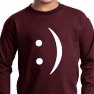 Kids Funny Shirt Smiley Chat Face Long Sleeve Tee T-Shirt