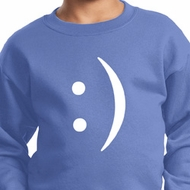 Kids Funny Sweatshirt Smiley Chat Face Sweat Shirt