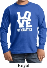 Kids Gymnastics Shirt Love Gymnastics Long Sleeve Tee T-Shirt