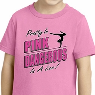 Kids Gymnastics Shirt Pretty in Pink Toddler Tee T-Shirt