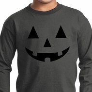 Kids Halloween Shirt Black Jack O Lantern Long Sleeve Tee T-Shirt