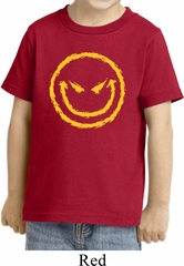Kids Halloween Shirt Evil Smiley Face Toddler Tee T-Shirt