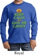 Kids Halloween Shirt Give Me Candy Long Sleeve Tee T-Shirt