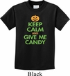 Kids Halloween Shirt Keep Calm and Give Me Candy Tee T-Shirt